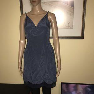 Rag & Bone dark blue silk dress
